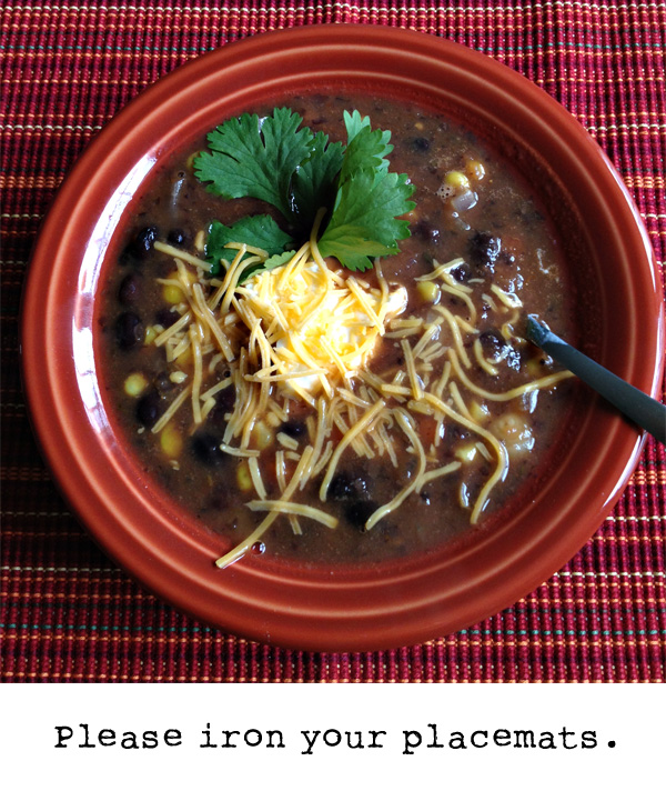 Black Bean Soup | Running With Scissors